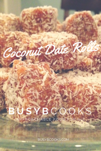 Coconut Date Rolls | Busy B Cooks